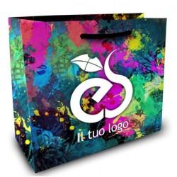 Shopper Lusso f.to cm 40+20x30 4 Colori
