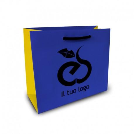 Shopper Lusso f.to cm 13+9x18 3 Colori